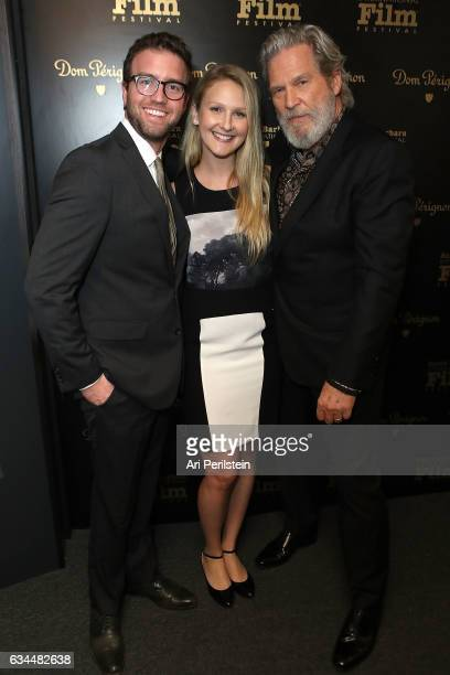 Guest Hayley Bridges and Actor Jeff Bridges visit the Dom Perignon Lounge at The Santa Barbara International Film Festival on February 9 2017 in...