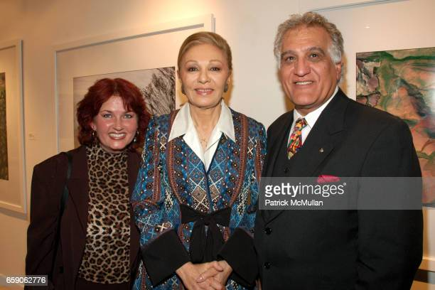guest Her Majesty Empress Farah Pahlavi and guest attend LEILA TAGHINIAMILANI HELLER GALLERY Presents GEORG GERSTER Paradise Lost Persia From Above...