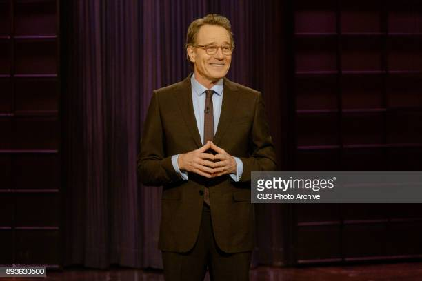 Guest host Bryan Cranston performs the monologue during 'The Late Late Show with James Corden' Wednesday December 13 2017 On The CBS Television...