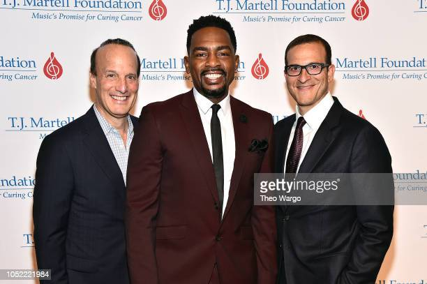 Guest Host Comedian Bill Bellamy and Doug Davis attend The TJ Martell Foundation 43rd New York Honors Gala at Cipriani 42nd Street on October 15 2018...