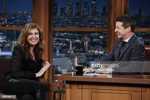 Guest Host Sean Hayes on THE LATE LATE SHOW with guest Allison Janney on Tuesday Feb 3 on the CBS Television Network