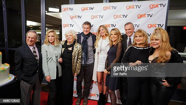 R guest Howard Storm Donna Mills Renee Taylor Tony Griffin Tricia Griffin Vanna White Peter MarshallSusan Stafford and Charo attend the 50th...