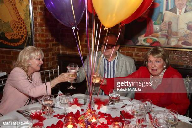 Guest Hunt Slonem and Jacqueline Stone attend Monique van Vooren Hosts a Birthday Party for Jacqueline Stone at Chez Josephine on August 18 2009 in...