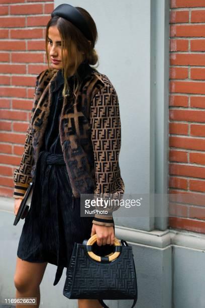 Guest in seen during Milan Fashion Week Womenswear Spring/Summer 2020 on 19 September 2019 in Milan, Italy