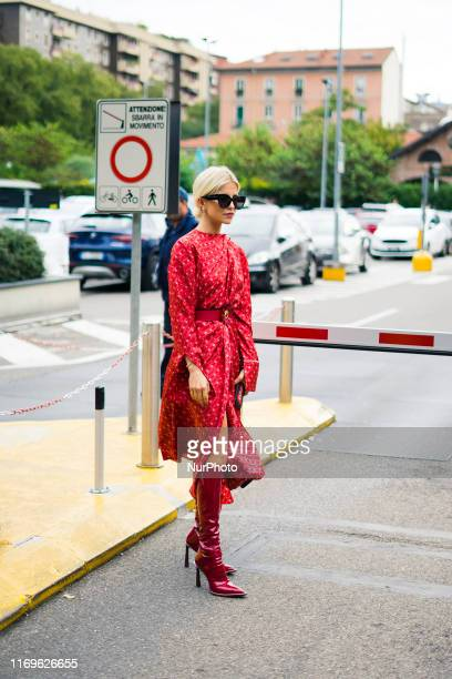 Guest in seen during Milan Fashion Week Womenswear Spring/Summer 2020 on 19 September 2019 in Milan, Italy