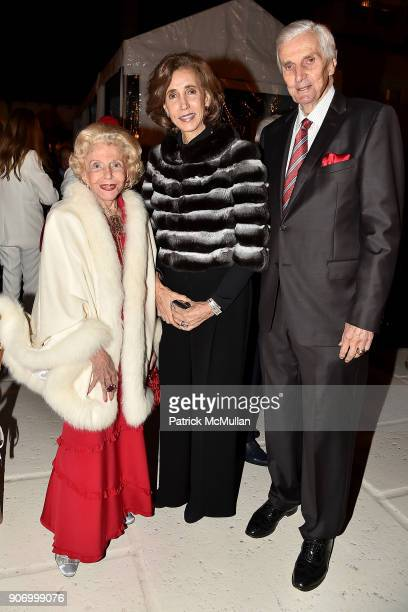 Guest Irene Athens and General Carter Clark attend President Trump's one year anniversary with over 800 guests at the winter White House at MaraLago...