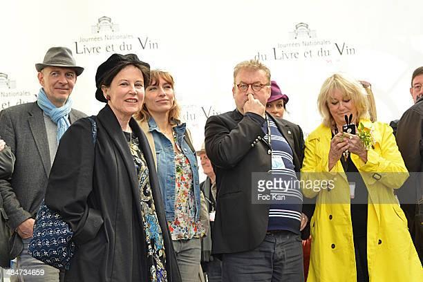 Guest, Irene Frain, Julie Debazac, Dominique Besnehard and Mylene Demongeot attend the 'Journees Nationales du Livre et du Vin 2014' At Bouvet...