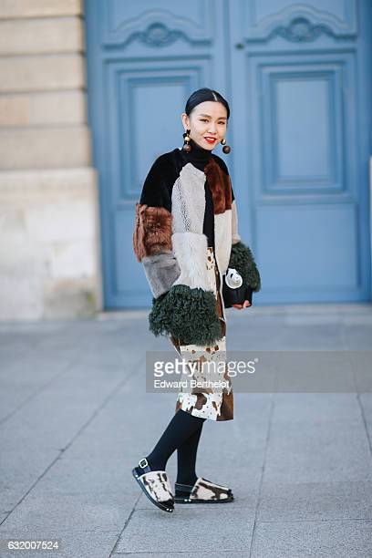 A guest is seen after the Balenciaga show during Paris Fashion Week Menswear Fall/Winter 2017/2018 at Place Vendome on January 18 2017 in Paris France
