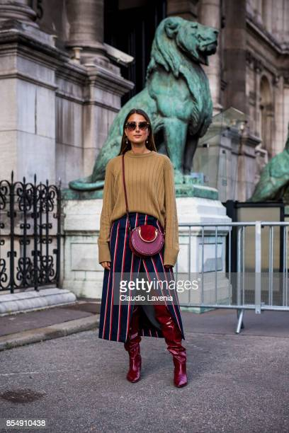 A guest is seen after the Dries van Noten fashion show during Paris Fashion week Womenswear SS18 on September 27 2017 in Paris France