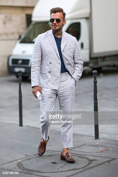 Guest is seen, after the Hermes show, during Paris Fashion Week Menswear Spring/summer 2017, on June 25, 2016 in Paris, France.