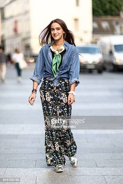 A guest is seen after the Hermes show during Paris Fashion Week Menswear Spring/summer 2017 on June 25 2016 in Paris France