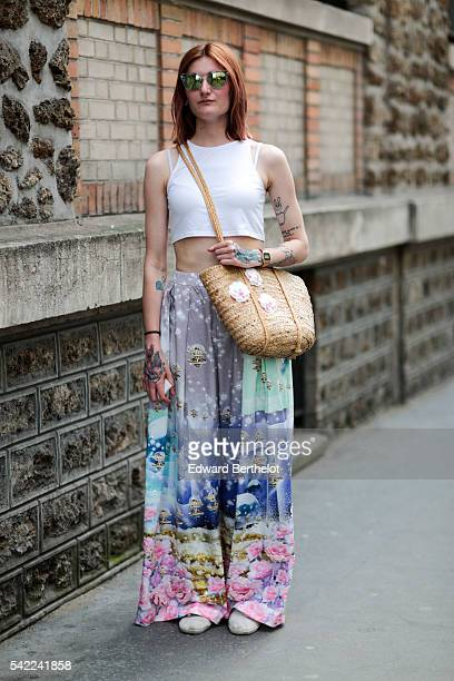 A guest is seen after the Lemaire show during Paris Fashion Week Menswear Spring/Summer 2017 on June 22 2016 in Paris France