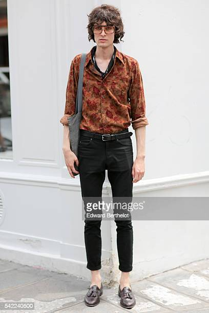 A guest is seen after the OAMC show during Paris Fashion Week Menswear Spring/Summer 2017 on June 22 2016 in Paris France