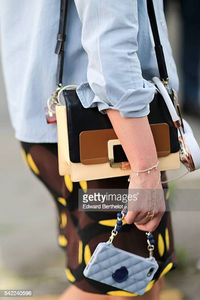 A guest is seen after the Valentino show during Paris Fashion Week Menswear Spring/Summer 2017 on June 22 2016 in Paris France