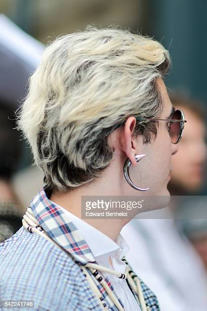 A guest is seen after the Walter Van Beirendonck show during Paris Fashion Week Menswear Spring/Summer 2017 on June 22 2016 in Paris France