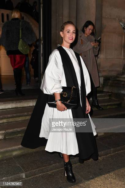Guest is seen arriving at Valentino fashion show during Paris Fashion Week Haute Couture Spring Summer 2020 on January 23 2019 in Paris France