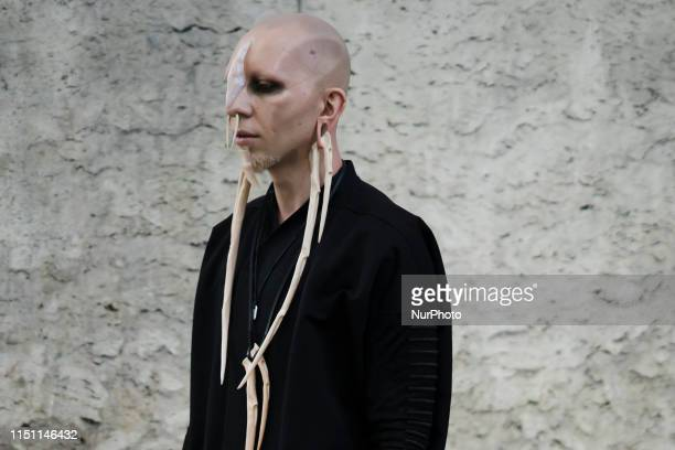 Guest is seen at Street Style : Paris Fashion Week - Menswear Spring/Summer 2020 : Day 3 At Rick Owens fashion show, on June 20 in Paris, France