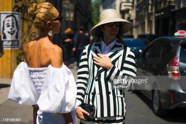 Guest is seen at Street Style : Paris Fashion Week - Menswear Spring/Summer 2020 : Day 5 At Thom Browne fashion show, 22 June 2019, Paris, France