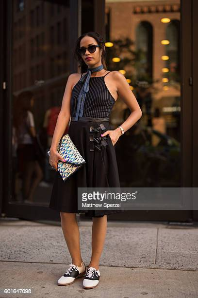 A guest is seen attending Adam Selman during New York Fashion Week on September 8 2016 in New York City