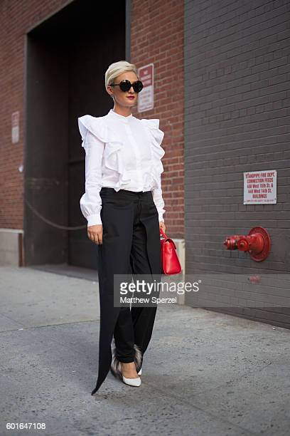 Guest is seen attending Adam Selman during New York Fashion Week on September 8, 2016 in New York City.