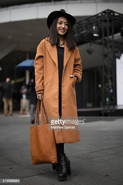 A guest is seen attending Tsukasa Mikami during Tokyo Fashion Week on March 14 2016 in Tokyo Japan