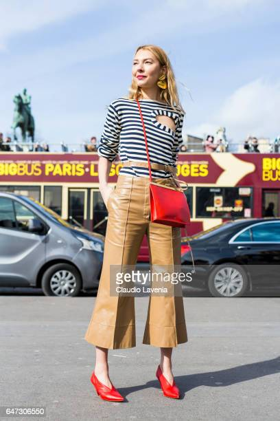 A guest is seen before the Ann Demeulemeester show during Paris Fashion Week Womenswear Fall/Winter 2017/2018 on March 2 2017 in Paris France