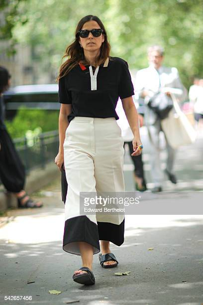A guest is seen before the Issey Miyake Men show during Paris Fashion Week Menswear Spring/summer 2017 on June 23 2016 in Paris France