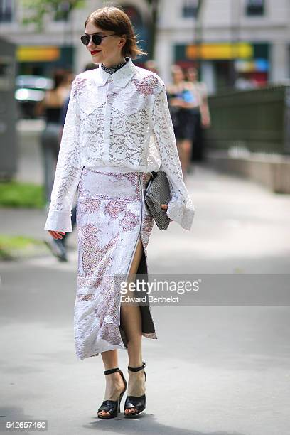 Guest is seen, before the Issey Miyake Men show, during Paris Fashion Week Menswear Spring/summer 2017, on June 23, 2016 in Paris, France.