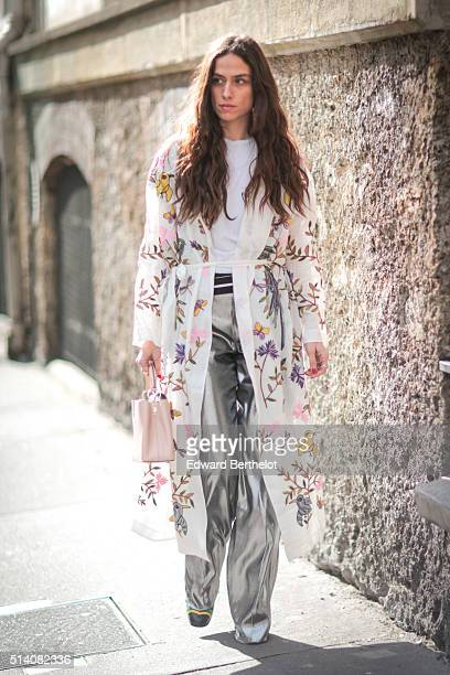 A guest is seen before the John Galliano show during Paris Fashion Week Womenswear Fall Winter 2016/2017 on March 6 2016 in Paris France