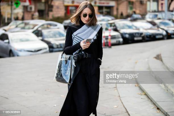 Guest is seen during day 3 of the Mercedes-Benz Tbilisi Fashion Week on November 02, 2019 in Tbilisi, Georgia.