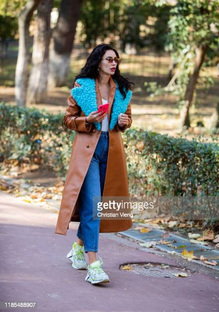 A guest is seen during day 4 of the MercedesBenz Tbilisi Fashion Week on November 03 2019 in Tbilisi Georgia