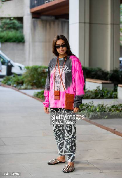 Guest is seen during London Fashion Week September 2021 on September 21, 2021 in London, England.