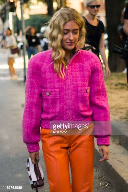 A guest is seen during Milan Fashion Week Spring/Summer 2020 on September 2019 Milan Italy