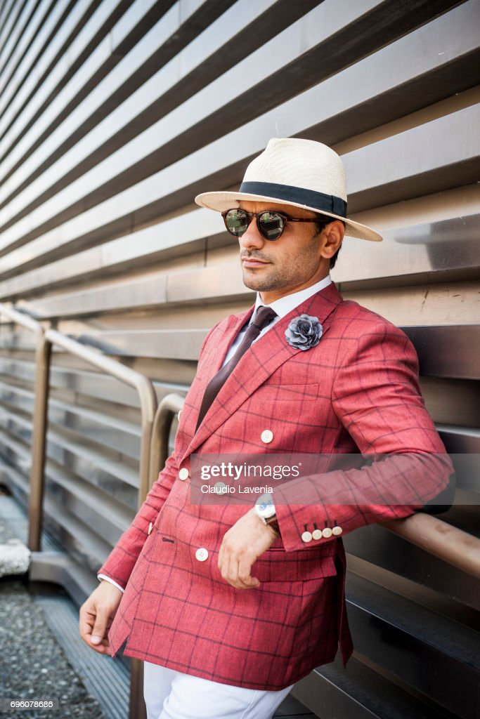 Guest is seen during Pitti Immagine Uomo 92. at Fortezza Da Basso on June 14, 2017 in Florence, Italy.