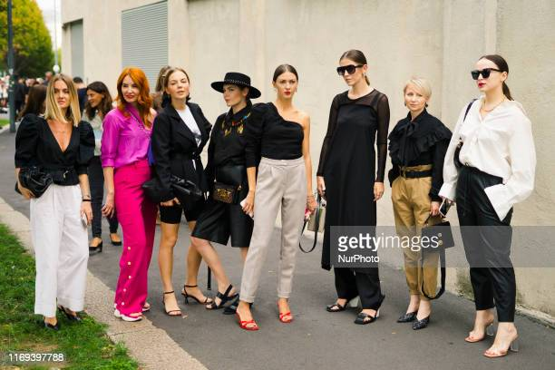 A guest is seen during Street Style Milan Fashion Week Womenswear Spring/Summer 2020 Day One on September 18 2019 in Milan Italy