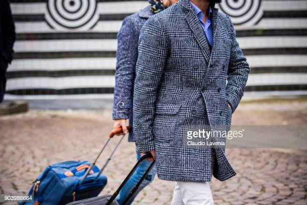 Guest is seen during the 93 Pitti Immagine Uomo at Fortezza Da Basso on January 11 2018 in Florence Italy
