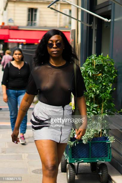 Guest is seen during the Street Style - Paris Fashion Week Menswear Spring/Summer 2020 : Day One, in Paris, France, on June 18, 2019.