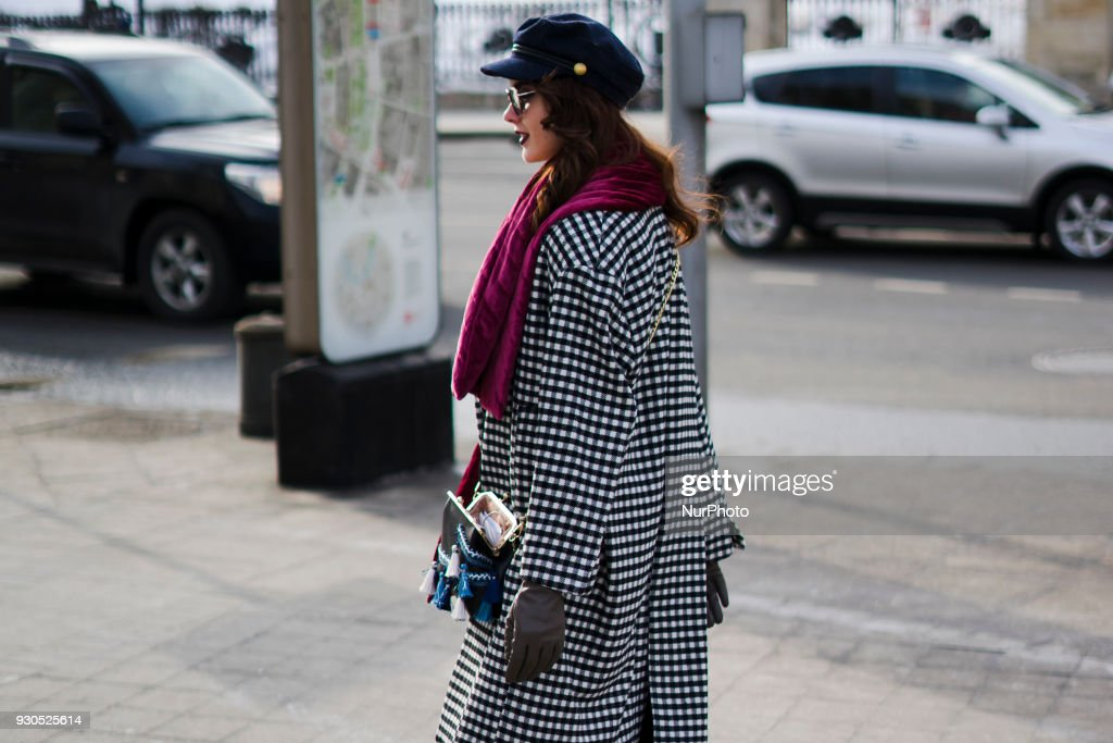 treet Style at Mercedes-Benz Fashion Week Russia - Day 2 : News Photo
