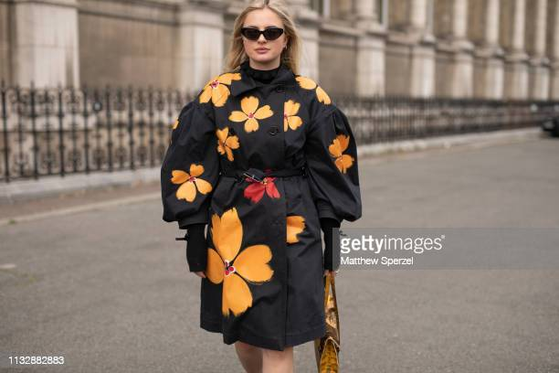 A guest is seen on the street attending Redemption during Paris Fashion Week AW19 wearing Redemption on February 28 2019 in Paris France