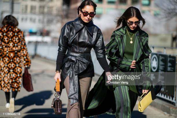 A guest is seen outside Adeam during New York Fashion Week Autumn Winter 2019 on February 09 2019 in New York City