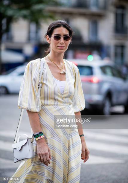 A guest is seen outside Alexis Mabille on day three during Paris Fashion Week Haute Couture FW18 on July 2 2018 in Paris France