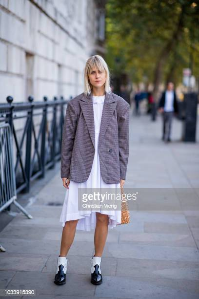 A Guest Is Seen Outside Anya Hindmarch During London Fashion Week September  On September