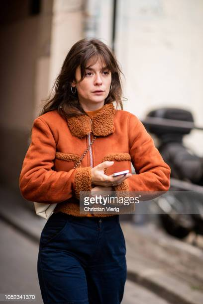 Guest is seen outside A.P.C. During Paris Fashion Week Womenswear Spring/Summer 2019 on October 1, 2018 in Paris, France.