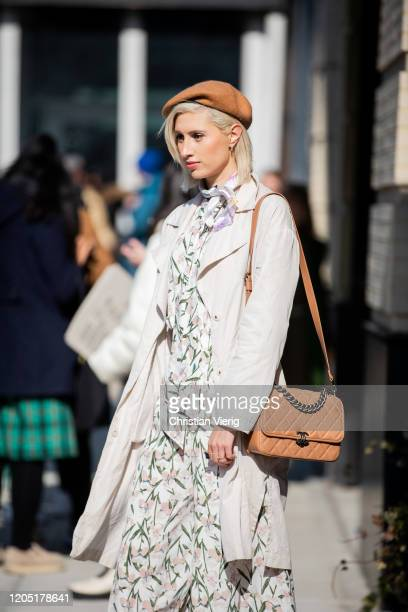 Guest is seen outside Bevza during New York Fashion Week Fall / Winter on February 09, 2020 in New York City.