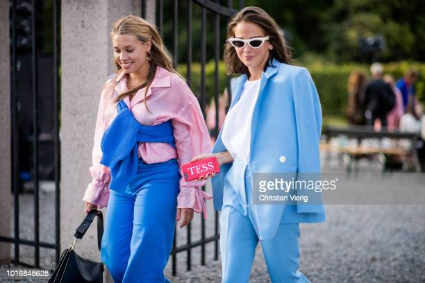 Guest is seen outside byTiMo during Oslo Runway SS19 on August 14, 2018 in Oslo, Norway.