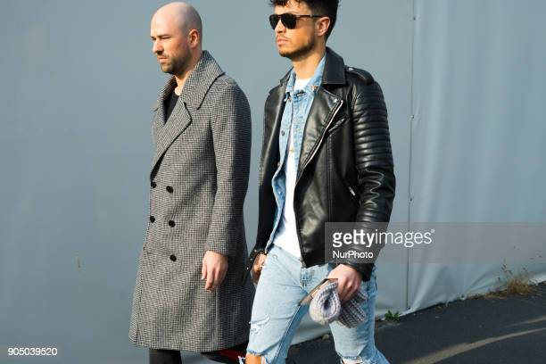 A guest is seen outside Daks during Milan Men's Fashion Week Fall/Winter 2018/19 on January 14 2018 in Milan Italy