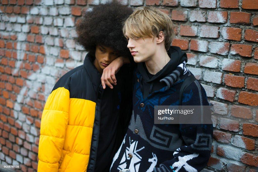 Street style at Milan Men's Fashion Week Fall/Winter 2018/19 : News Photo