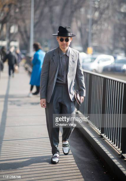 Guest is seen outside Fendi on Day 2 Milan Fashion Week Autumn/Winter 2019/20 on February 21, 2019 in Milan, Italy.