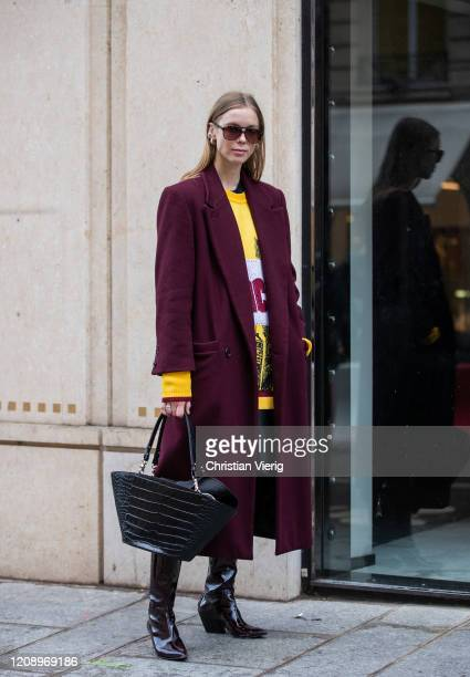 A guest is seen outside Guy Laroche during Paris Fashion Week Womenswear Fall/Winter 2020/2021 Day Three on February 26 2020 in Paris France