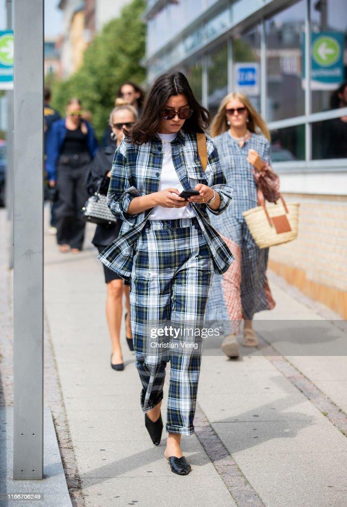 Street Style - Day 2 - Copenhagen Fashion Week Spring/Summer 2020 : News Photo